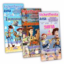 100 Invitaciones Impresas Urgentes Toy Story ¡envio Gratis!