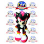 Peluche Sonic Shadow 25 Cm