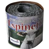 Arame Farpado Espinetto 1 Rls Com 500 Metros +1kg Grampo Pol