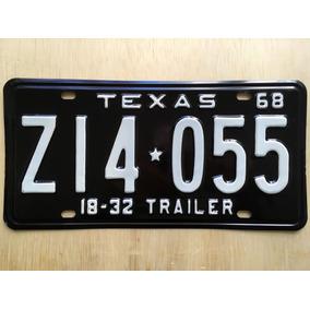 Placa De Carro Americano - Texas - Usa - Original 1968