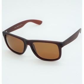 Óculos Masculino Quadrado Justin Espelhado Marrom Polarizado