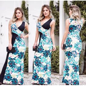 Vestido longo zinzane azul