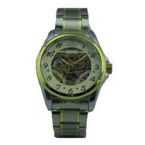 Reloj Esqueletor Dorado Automático Maquinaria