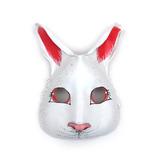Antifaz Conejito Blanco Conejo Liebre Cuero Máscara Disfraz