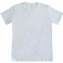 Camiseta Infantil Básica Lisa Tradicional 100%algodão Branca