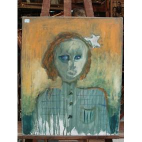 Anonimo / Retrato Niña Abstracto / Oleo / 60 X 50 # 1738