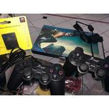 Super Kit Playstation 2 Desbloqueado+2 Controle+memory Card+