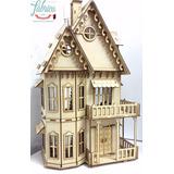 Casa Casita De Muñecas Gotica De Fibrofacil Con 23 Muebles
