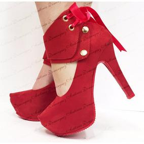 Sapato Feminino Salto Alto Ref 782- Fita Antonia Dominguez