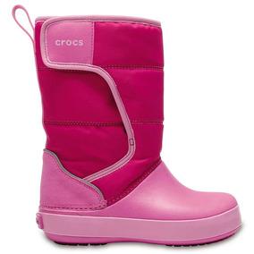 Crocs Originales Lodgept Snowboots K Rosa Niñas 6lr