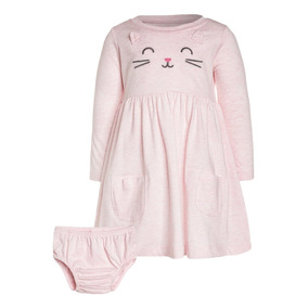 Vestido Carters Gatito Gato Niña Ropa Americana Bebe Nva