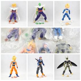 Kit 6 Bonecos Dragon Ball Z Articulados 15cm Goku Gohan