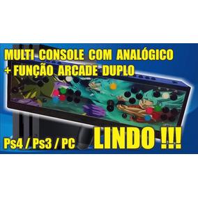Multiconsole Retro + Função Arcade Duplo Ps4/ps3/pc Sem Fio!
