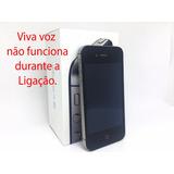 Iphone 4s 8gb Tela 3,5 Usado Defeito Viva Voz - Veja Fotos