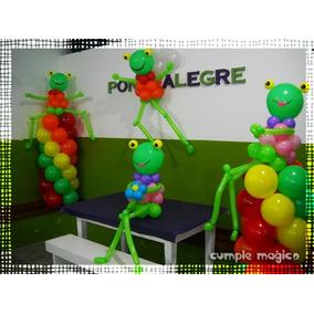 Columnas Sapo Pepe Y Sapa Pepa!! Decoración Para Cumpleaños