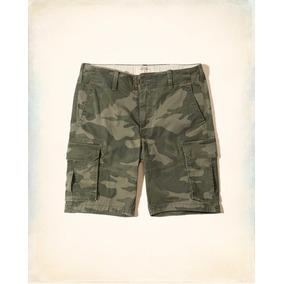 Hollister Short Caballero Color Verde Militar (0780)