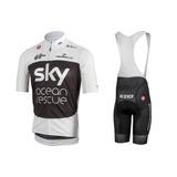 Traje Ciclismo Sky 2019 Jersey + Short Bib Bici, Mtb Mod2