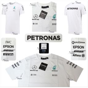 Playera Blanca Mercedes Amg Petronas F1 Genuina Linea 2017