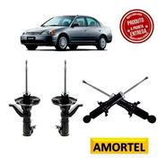 4 Amortecedor Dianteiro/traseiro Do Honda Civic 03/05