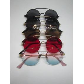 Oculos Redondo Lente Rosa De Sol - Óculos con Mercado Envios no ... ac10400663
