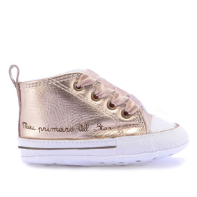 Tênis Converse All Star Kids Ct As My First All Star Hi Ouro
