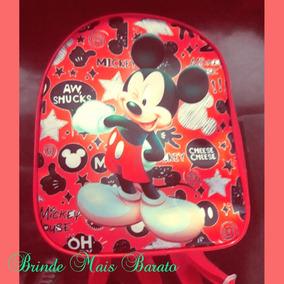 Mochilinha Mickey Kit 10 Peças
