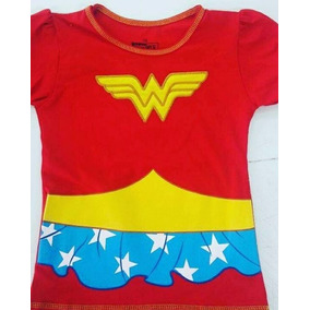 Franelas Para Niñas Mujer Maravilla Wonderwoman 100% Algodón