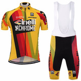 Uniforme Ciclismo Cinelli Chrome 2017 Jersey + Short Bib