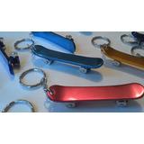 Mini Skate De Metal - Chaveiro E Abridor - Prateado - 1 Un