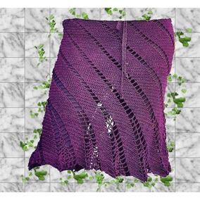 Falda Tejida Crochet Sin Forro