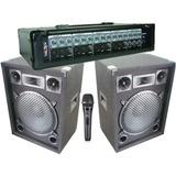 Dos Cajas Acusticas Con Amplificador Cabezal De 4 Canales