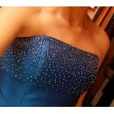 Vestido Corto Azul De Fiesta. Tipo Coctel.