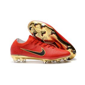 09612371d2 Chuteiras Campo Nike Profissional Mercurial - Chuteiras Vermelho no ...