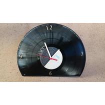 Relogio Mesa Quartz Disco Vinil Long Play Antigo Montagem