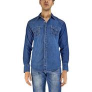 Camisa Vaquera Wrangler Hombre Manga Larga S34