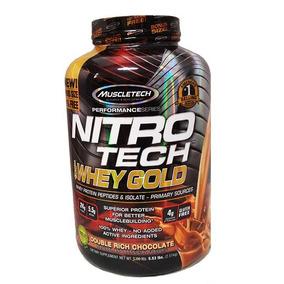 Complemento Alimenticio Muscletech Nitrotech Whey Gold 5.53l