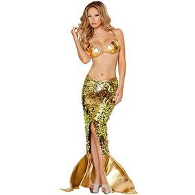 Mujeres Sexy Sirena Cosplay Disfraz Halloween Fiesta Sirena