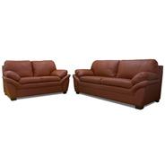 Sala De Piel - Génova - Sofa Y Love - Conforto Muebles