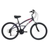 Bicicleta Caloi 500 Feminina Aro 26 A16 Preto/rosa