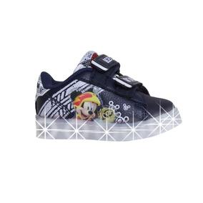 Zapatillas Addnice Baby Led Mickey Racers Abrojo Bebe Az/bl