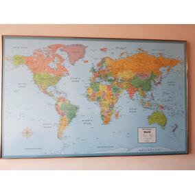 Cuadro Acrilico De Mapa Mundial Nuevo