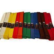 Cinturon Artes Marciales 2,90mt 10 Costura Taekwondo Itf Wtf