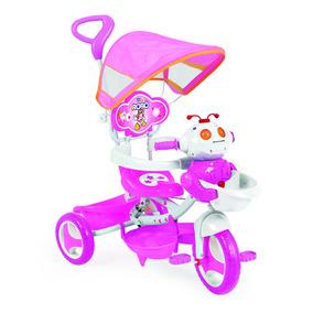 Triciclo Empurrador Motoca Infantil Carrinho Passeio Criança