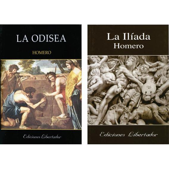Homero Lote X 2 Libros La Odisea / La Ilíada Nuevos