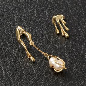 f89391cb4f29 Par Aros Oro Blanco Con Diamantes Y Perlas Cultivadas - Joyería en ...