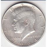 Eeuu, Antigua Moneda De Plata Half Dollar 1.964