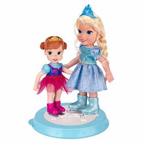 Bonecas Disney Frozen Elsa E Anna Patinadoras Original Sunny