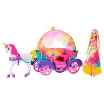 Barbie Reino De Arcoiris Princesa, Caballo Y Carruaje Dpy38