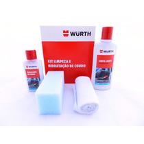 1 Kit Wurth Limpeza E Hidratação De Banco Couro Carro Moto