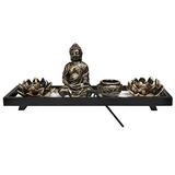 Mygift Inicio Zen Garden Set - Estatua De Buda / Lotus Luz